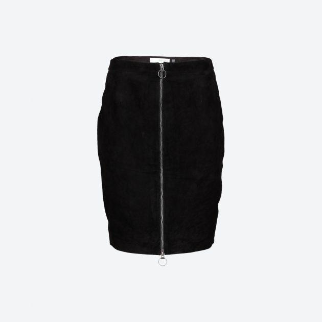 Pieszak Lenz Suede Zip Skirt