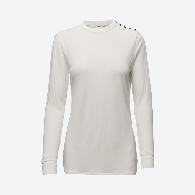 Filippa K Crepe Button Jersey